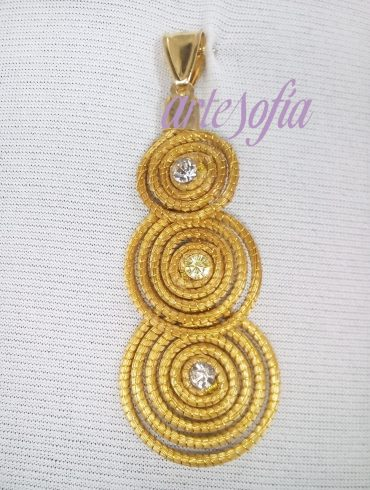 Colgante Capim triple espiral. Artesofia
