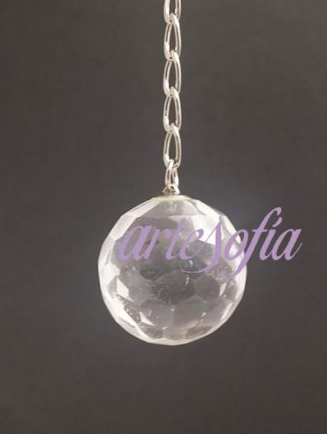Péndulo esfera de cuarzo cristal.