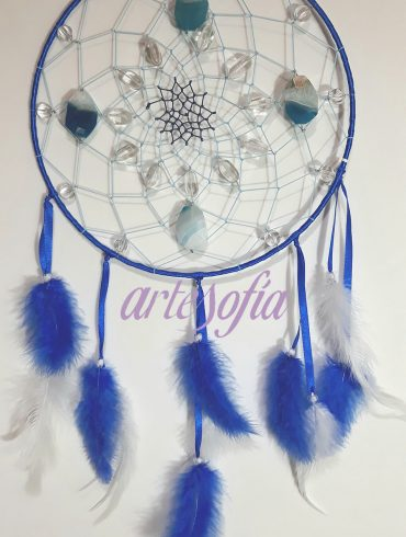 Atrapasueños Agata Azul. ARTESOFIA